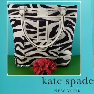 Kate Spade Bag Large Tote Leather Canvas